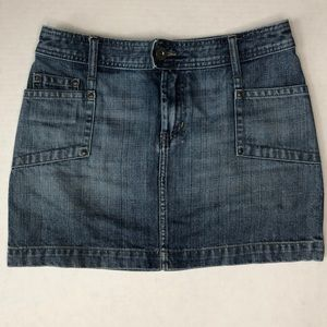 H&M 5 pocket mini jean skirt size 8